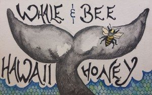 Whale and Bee honey banner
