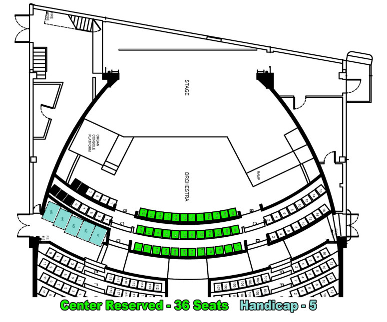 3 Center Reserved Seating