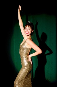 Gypsy Rose Lee in Gold Sequin